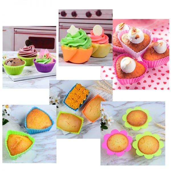 מנגטים הגשה קאפקייקס עוגיות מעוצב נייר אלומיניום צבעוני Life-Design | לייף-דיזיין להזמנה אונליין