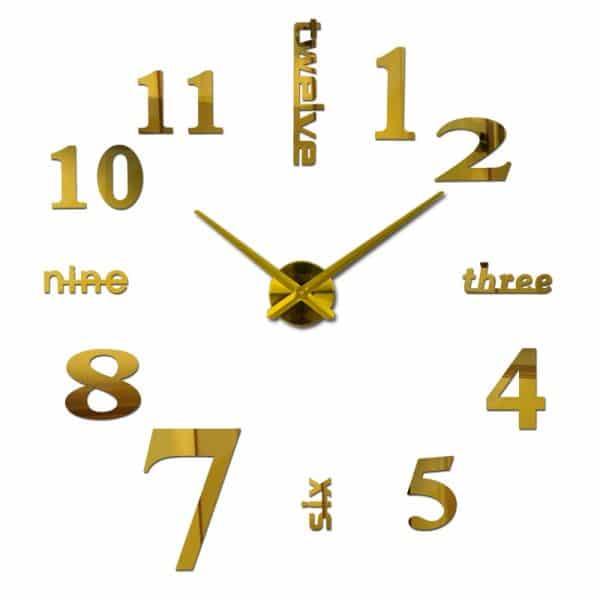שעון קיר גדול ענק מחוגים ציור דבק מעוצבים לבית לחדר ילדים משרד לקניה Life-Design | לייף-דיזיין