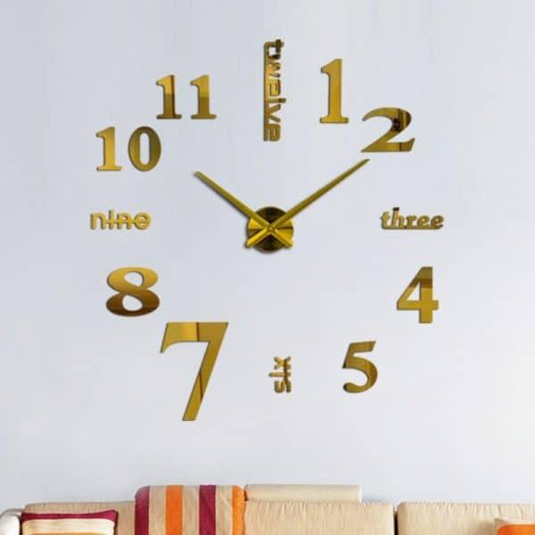 שעון קיר גדול ענק מחוגים ציור דבק חדר עבודה  מעוצב לקניה Life-Design | לייף-דיזיין
