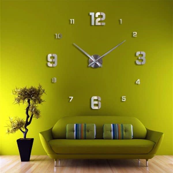 שעון קיר גדול ענק מחוגים ציור דבק חדר עבודה  מעוצב לקניה Life-Design   לייף-דיזיין