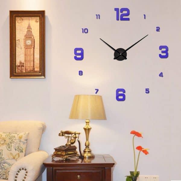 שעון קיר גדול ענק מחוגים ציור דבק חדר עבודה  מעוצב Life-Design   לייף-דיזיין להזמנה אונליין
