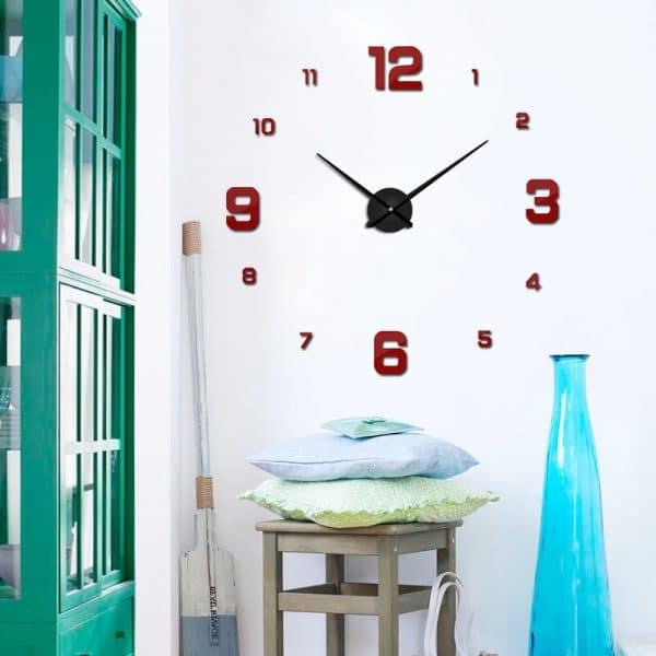 שעון קיר גדול ענק מחוגים ציור דבק חדר עבודה  מעוצב לרכישה בזול Life-Design   לייף-דיזיין