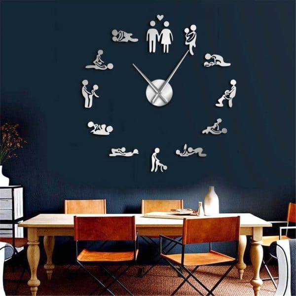 שעוני קיר שעונים מחוג ציורים להדבקה חדר עבודה  מעוצב לקניה Life-Design | לייף-דיזיין