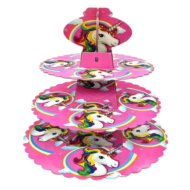 מעמד יום הולדת חד קרן נרות קאפקייקס עוגות עוגיות טופרים לייף-דיזיין להזמנה