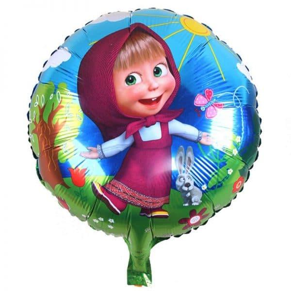 יום הולדת מאשה והדוב לילדות לילדים בלונים צבעוניים אוויר הליום צורות לרכישה בזול Life-Design | לייף-דיזיין