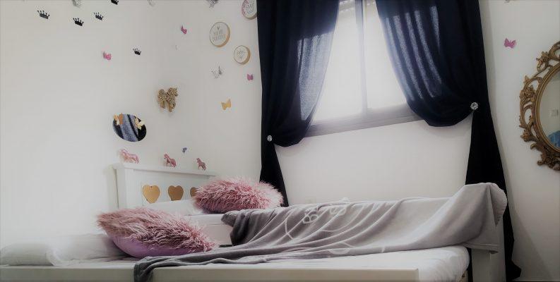 עיצוב חדרי ילדות ראי מראה סוס כריות ציפיות וילון וילונות לייף דיזיין להזמנה