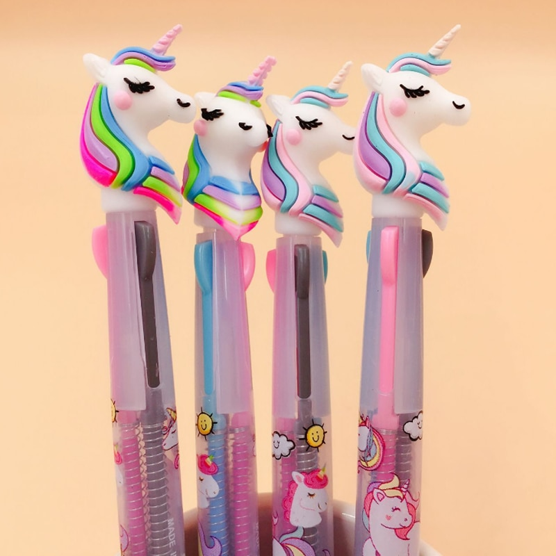 יום הולדת יוניקורן מדבקות עטים ארנק לייף-דיזיין להזמנה