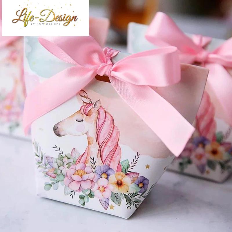 יום הולדת חד קרן קופסאות הפתעה מעוצבות לייף-דיזיין להזמנה