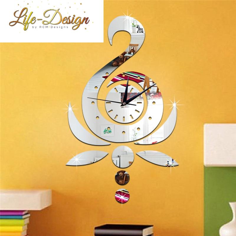 עיצוב חדר תינוקות ברבור, שעון קיר, פרפרים מדבקות לרכישה לייף דיזיין